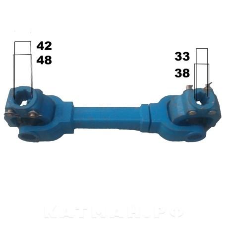 Вал карданный 8*8 шлицов, 680 мм, сечение-квадрат, б/к для фрезы 180/220 усиленный - фото 10335