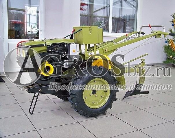 Мотоблок Аврора MT-101DE дизельный со стартером, фрезой и плугом - фото 5557