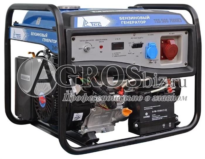 Бензогенератор TSS SGG 7000 E3, 7кВт с электростартером - фото 9865