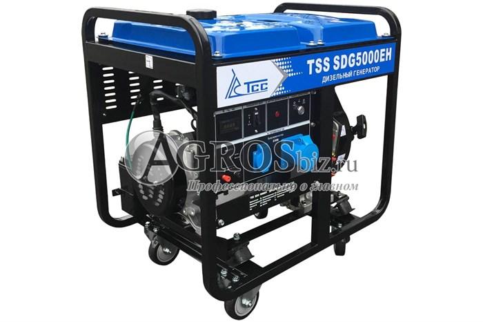 Дизельый генератор TSS SDG 5000EH, 5кВт с электростартером - фото 9869