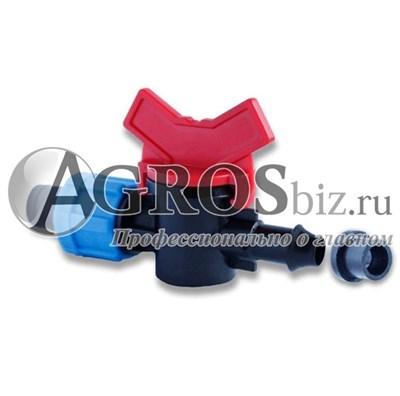 Кран для капельного полива с резинкой 1 шт